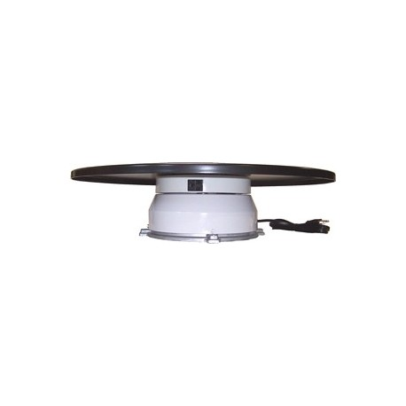 23in. Turntable w/ Rotating Electrical Outlet - 4 Amp - 2 RPM - 150 lbs Capacity
