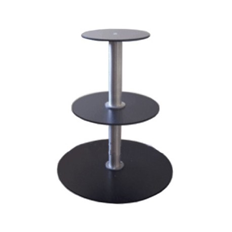 3 Tier Turntable - 8in.-12in.-17in. Tiers - 2 RPM - 50 lbs Capacity