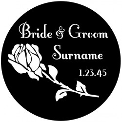 Rosco Steel Wedding Gobo 013 - Perfect Rose