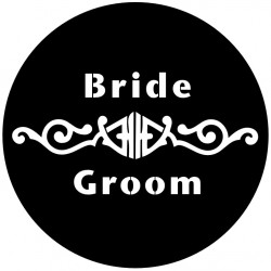 Rosco Steel Wedding Gobo 018 - Bold Love