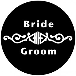 Rosco Glass Gobo - Wedding Design 0018