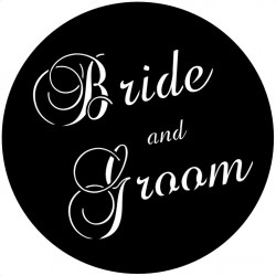 Rosco Steel Wedding Gobo 025 - Silver Screen Wedding