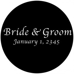 Rosco Steel Wedding Gobo 027 - Simply Elegant