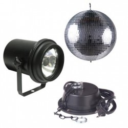 ADJ 8in. Mirror Ball Package