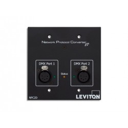 Leviton Two DMX Port Network Protocol Converter - 2 Female 5 pin XLR