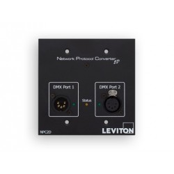 Leviton Two DMX Port Network Protocol Converter - 1 Male 1 Female 5 pin XLR