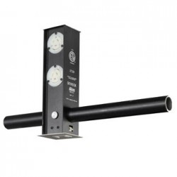 Leviton Skyhook Retractable Lighting Support - 1 Edison 2 Stage Pin & 2 Blank XLR Receptacles