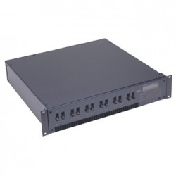 Leviton DS 12 Channel Modular Rack Mount Dimmer/Relay System - 2400W/Ch. DMX512 Knockout Panel