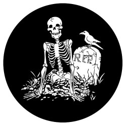 Rosco Steel Gobo - Skeleton Rising from Grave
