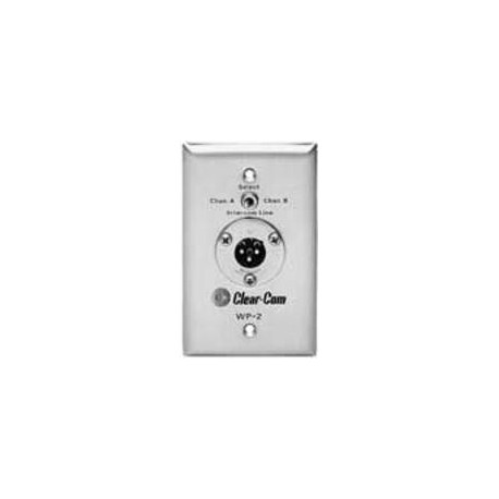 Clear-Com 2 Ch. 3-Pin Selectable Intercom Outlet Wall Plate