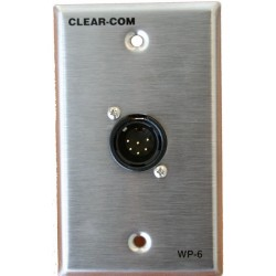 Clear-Com 2 Ch. 6-Pin Intercom Outlet Wall Plate
