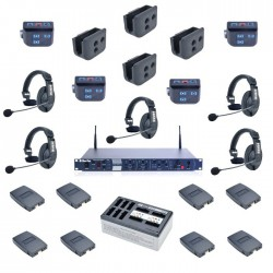 Clear-Com 4-Up HME DX210 System With HS15 Headsets