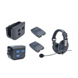 Clear-Com BP200 Beltpack With HS15D Double-Ear Headset