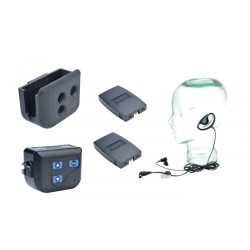 Clear-Com BP200 Beltpack With HS4-3 Earpiece and Lapel Mic
