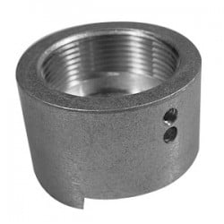 Light Source Mega-Coupler Pipe Adapter for 1 1/2in. Pipe - Black Anodized - Light Source MP1.5B.5B