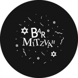 Rosco Steel Gobo - Bar Mitzvah 2