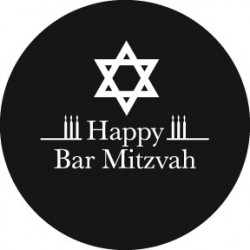 Rosco Steel Gobo - Bar Mitzvah