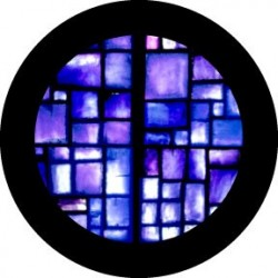 Rosco Glass Gobo - Indigo Square Breakup