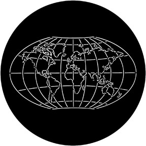 Rosco plastic gobo world map stage lighting store gumiabroncs Images