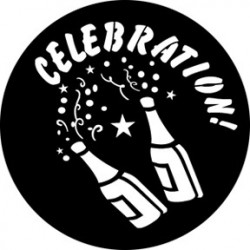 Rosco HD Plastic Gobo - Lets Celebrate