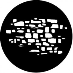 Rosco HD Plastic Gobo - Stone Wall 2