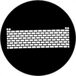Rosco HD Plastic Gobo - Brickwall