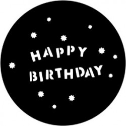 Rosco HD Plastic Gobo - Happy Birthday