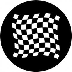 Rosco HD Plastic Gobo - Chequered Flag 1