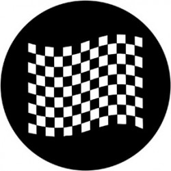 Rosco HD Plastic Gobo - Chequered Flag 2