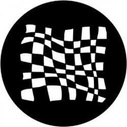 Rosco HD Plastic Gobo - Chequered Flag 3