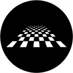 Rosco HD Plastic Gobo - Perspective Chessboard