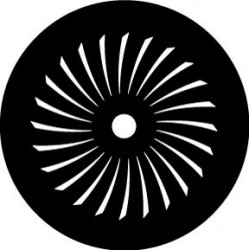 Rosco HD Plastic Gobo - Twisting Fan Inverse