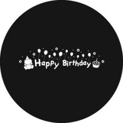 Rosco HD Plastic Gobo - Happy Birthday 3