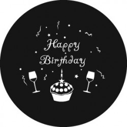 Rosco HD Plastic Gobo - Happy Birthday 2