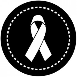 Rosco Steel Gobo SLS 0001 Stitched Awareness Ribbon