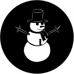 Rosco Steel Gobo SLS 0012 Snow Man