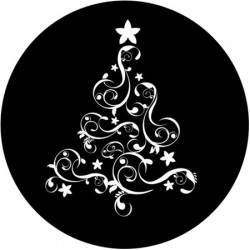 Rosco Steel Gobo SLS 0013 Whimsical Christmas Tree
