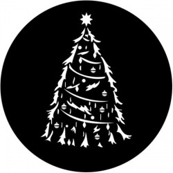 Rosco Steel Gobo SLS 0014 Traditional Christmas Tree