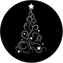 Rosco Steel Gobo SLS 0015 Curly Christmas Tree
