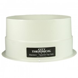 City Theatrical Stackers 6 1/4in. Short Full Top Hat - White