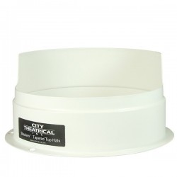 City Theatrical Stackers 7 1/2in. Short Half Top Hat - White