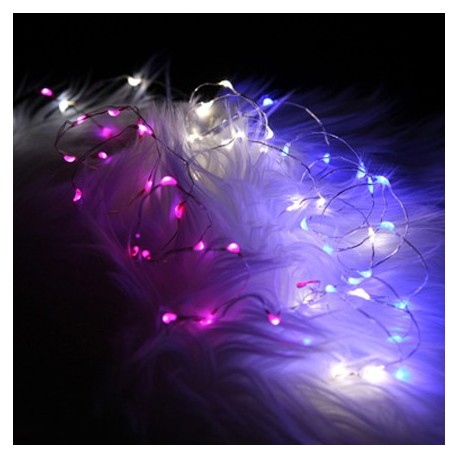 Pink String Lights Gorgeous Fortune Fantasia Fairy Lights 60 LED String Pink Stage