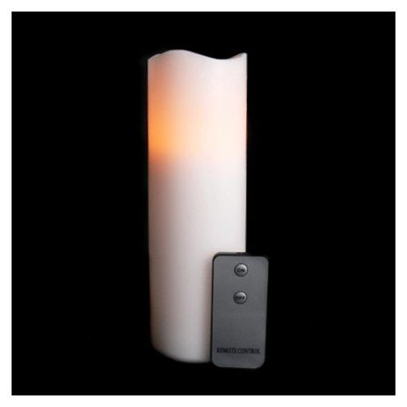 Fortune Remote Control Wax Pillar Candle - 9in.