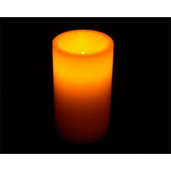 Fortune LED Real Wax Pillar Candle - 5in.