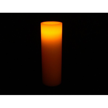 Fortune LED Real Wax Pillar Candle - 9in.