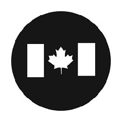 Rosco GAM Steel Gobo - Canadian Flag