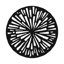 Rosco GAM Steel Gobo - Radial Breakup