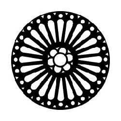 Rosco GAM Steel Gobo - Rose Window 1