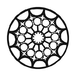 Rosco GAM Steel Gobo - Rose Window 2