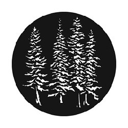 Rosco GAM Steel Gobo - Evergreen Trees